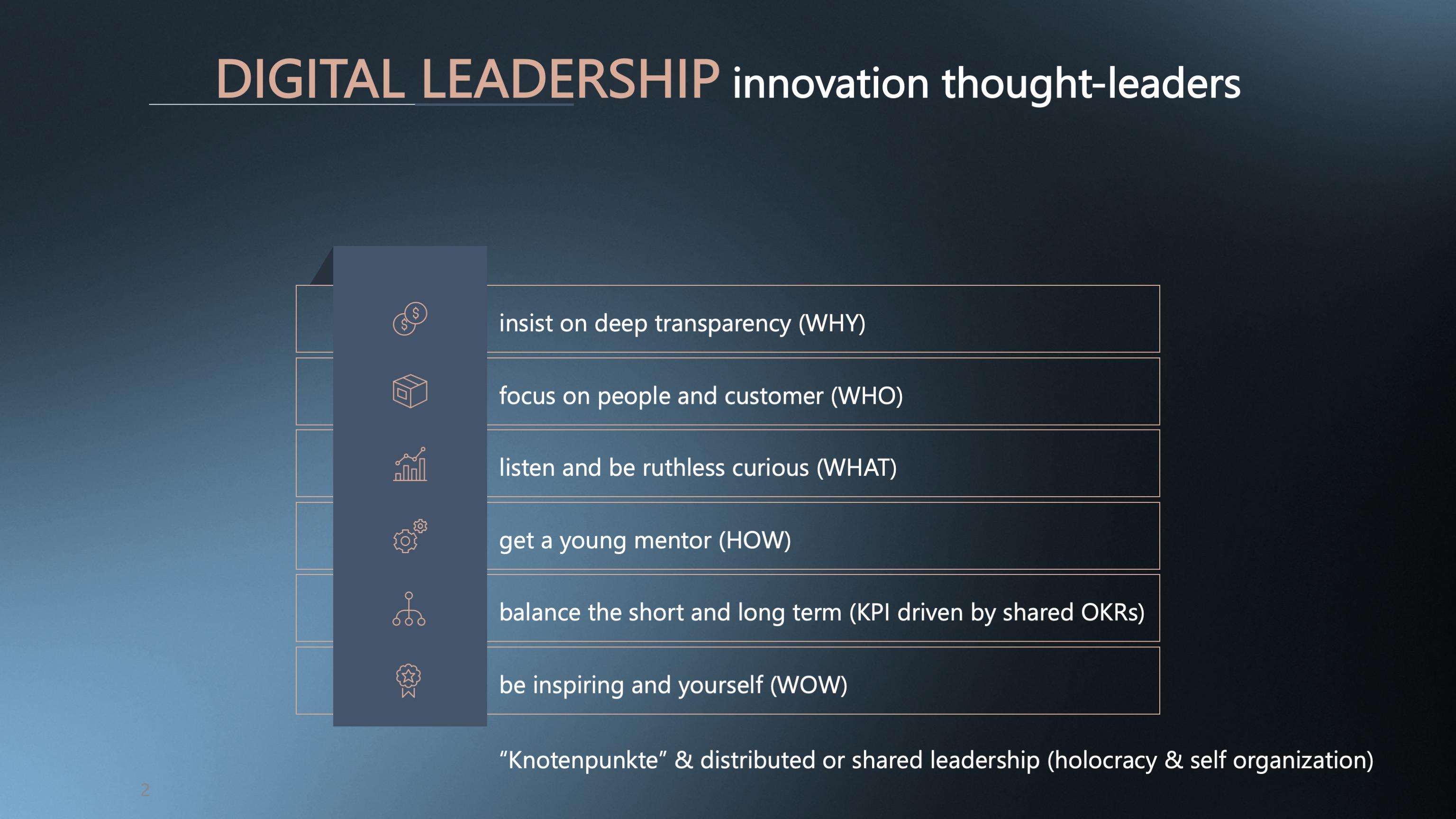 Digital Leadership braucht eine klare Haltung zu den FIVE CIRCLES